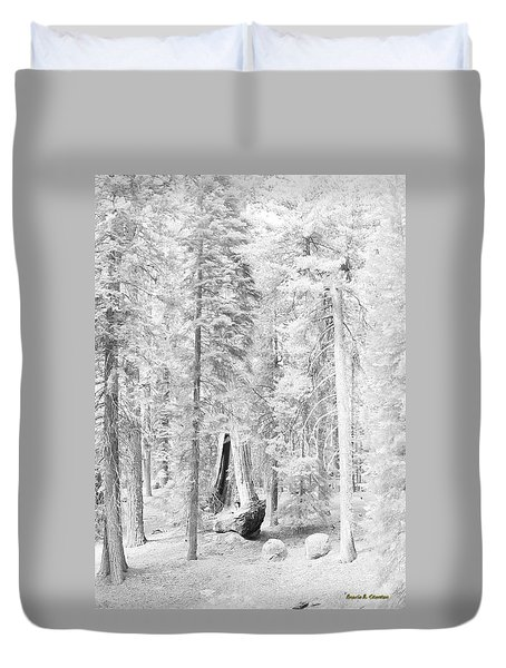 Snow Impressions Duvet Cover by Angela Stanton