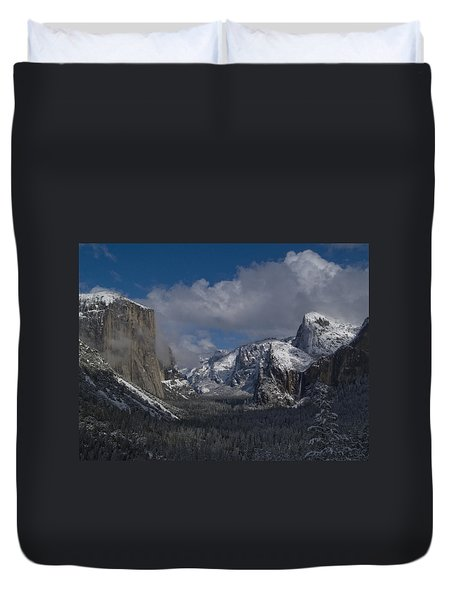 Snow Kissed Valley Duvet Cover by Bill Gallagher