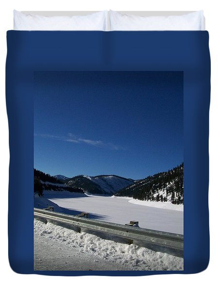 Snow Lake Duvet Cover