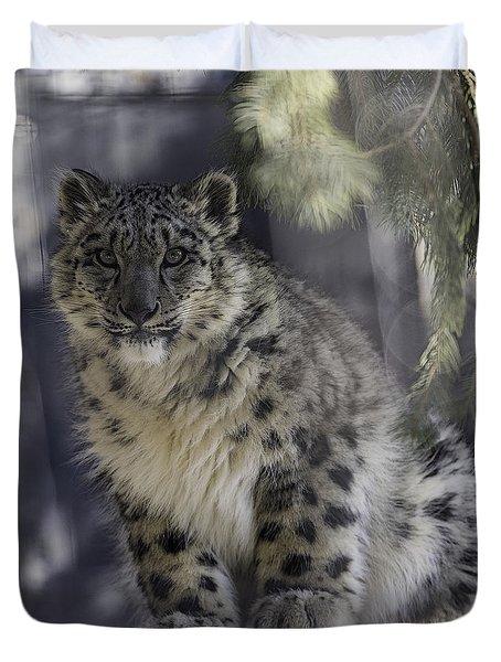 Snow Leopard 1 Duvet Cover