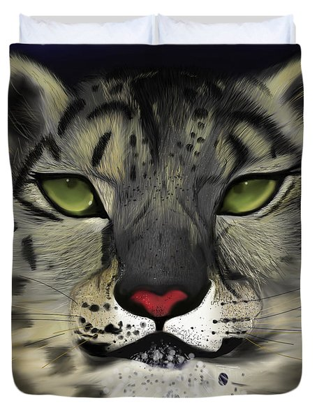 Snow Leopard - The Eyes Have It Duvet Cover