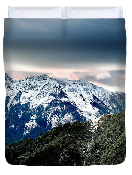Snow Mountain Duvet Cover by Yew Kwang