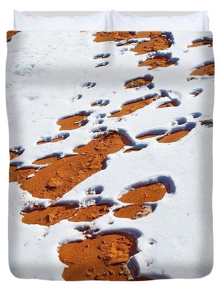 Snow On Dunes Duvet Cover