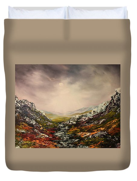 Snow On The Cairngorms Duvet Cover