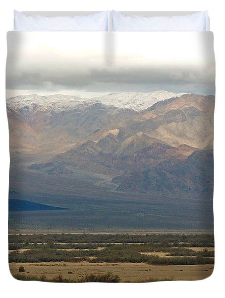 Duvet Cover featuring the photograph Snow Peaks by Stuart Litoff