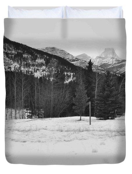 Snow Prints Duvet Cover