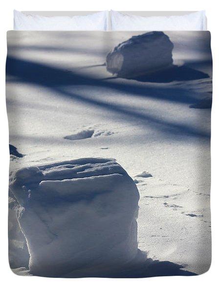 Snow Roller Trio In Shadows Duvet Cover
