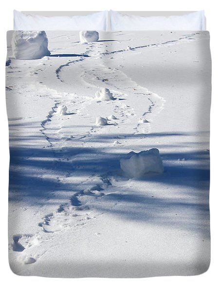 Snow Rollers Duvet Cover