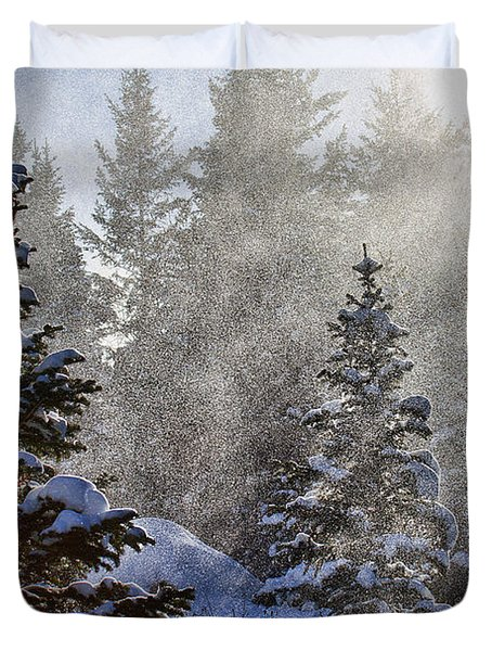 Snow Squalls Duvet Cover by Jim Garrison