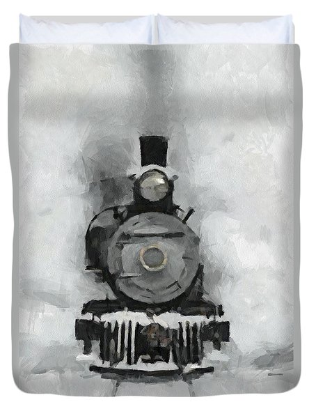 Snow Train Duvet Cover