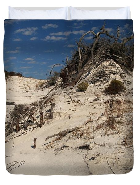 Snow White Dunes Duvet Cover by Adam Jewell
