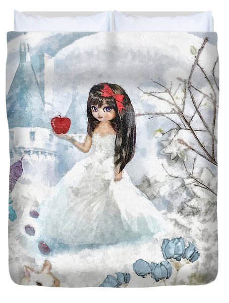Snow White Duvet Cover by Mo T