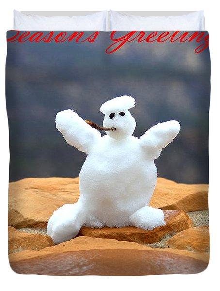 Snowball Snowman Duvet Cover