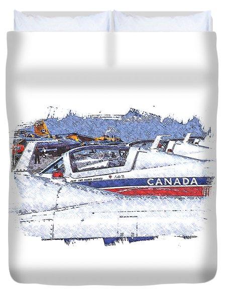 Snowbirds Duvet Cover