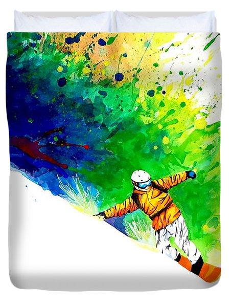 Snowboarder 1 Duvet Cover