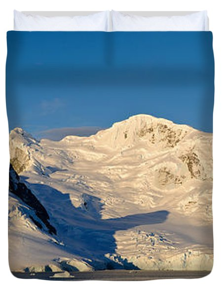 Snowcapped Mountain, Andvord Bay Duvet Cover