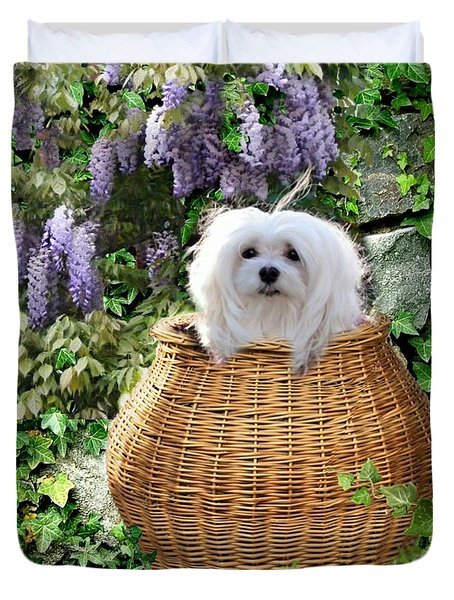 Snowdrop In A Basket Duvet Cover