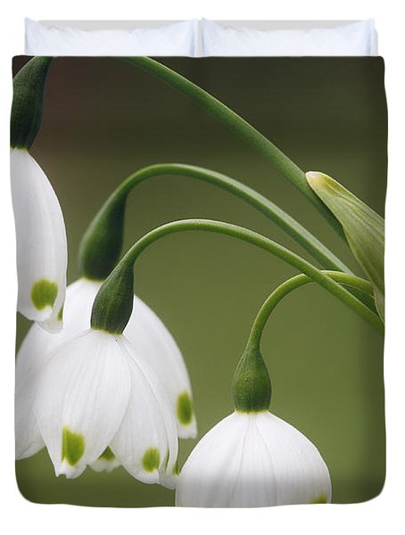 Snowdrops Duvet Cover by Jaki Miller
