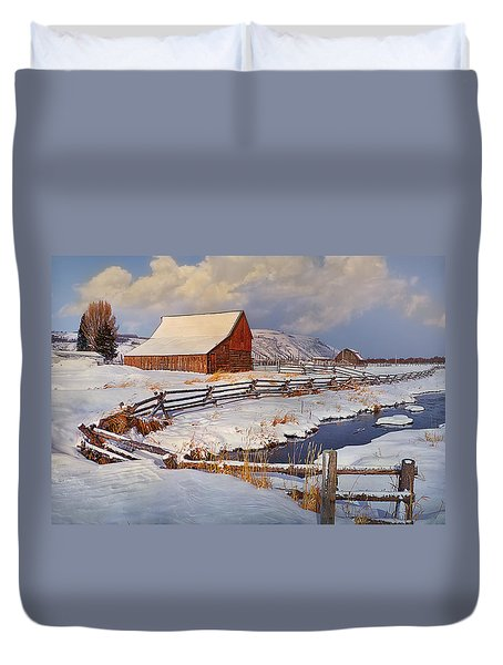 Snowed In Duvet Cover by Priscilla Burgers