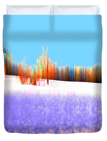 Duvet Cover featuring the photograph Snowfi4  by Lyle Crump