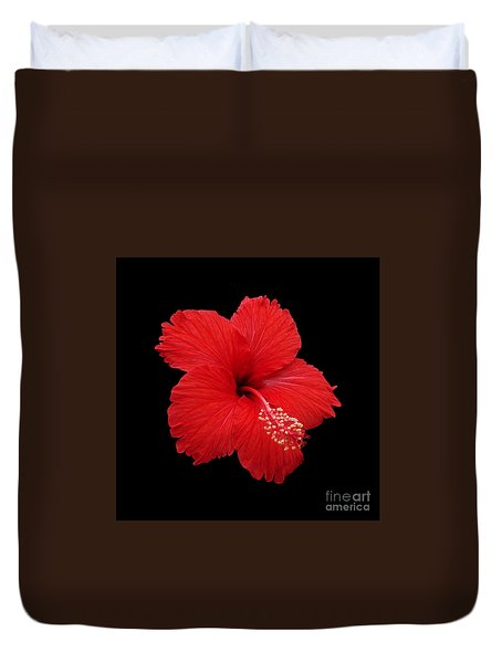 Duvet Cover featuring the photograph Snowflake Hibiscus by Judy Whitton