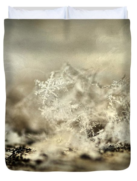 Snowflakes Duvet Cover by Darren Fisher