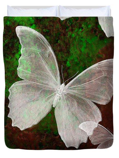 Snowflies Duvet Cover