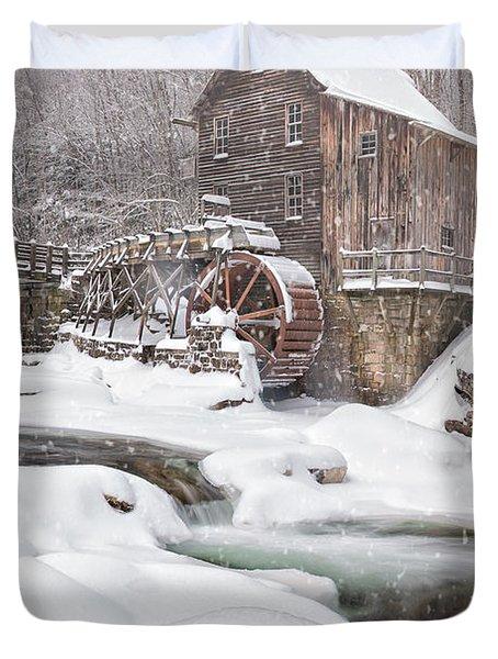 Snowglade Creek Grist Mill Duvet Cover