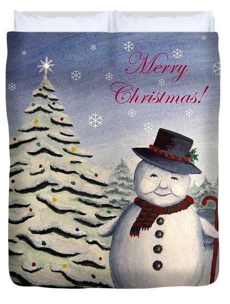 Snowman's Christmas Duvet Cover