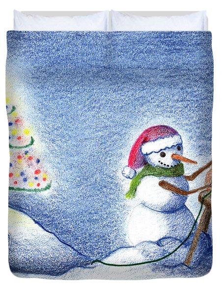 Snowman's X'mas Duvet Cover