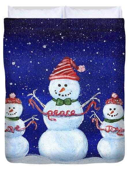 Snowmen Duvet Cover