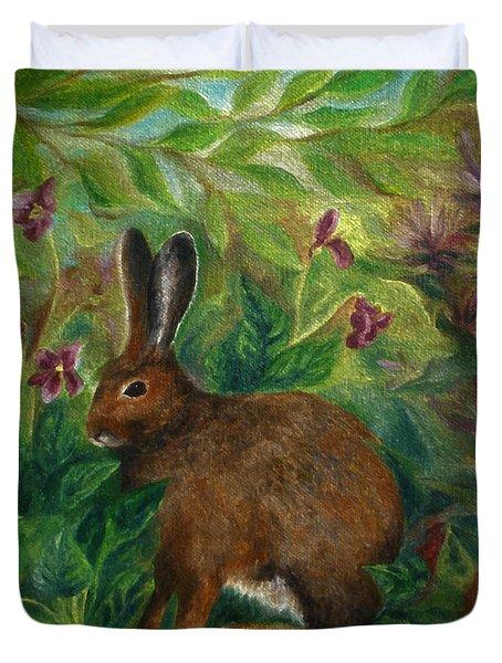 Snowshoe Hare Duvet Cover