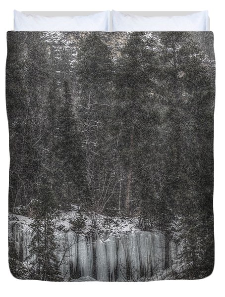 The Snowy Cliffs Of Spearfish Canyon South Dakota Duvet Cover