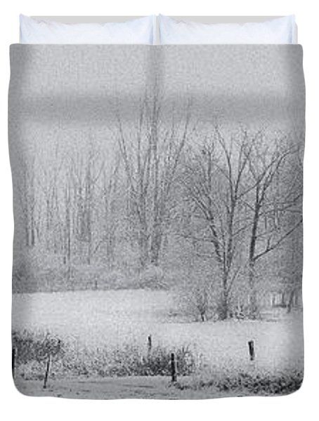 Snowy Fields Duvet Cover