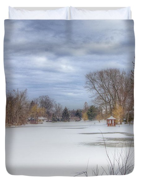 Snowy Lake Duvet Cover