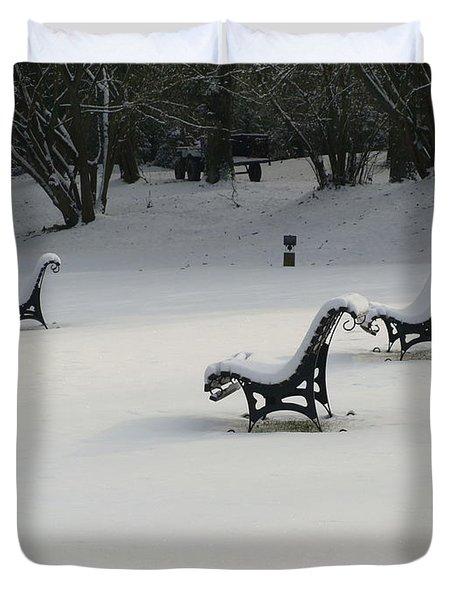 Snowy Landscape Duvet Cover