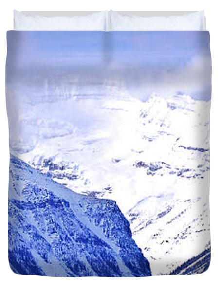 Snowy Mountains Duvet Cover by Elena Elisseeva