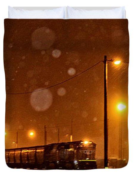 Snowy Night Duvet Cover