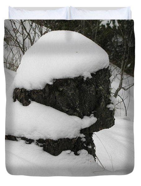 Snowy Profile Duvet Cover by Leone Lund