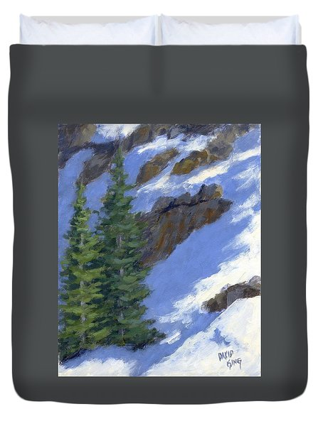 Snowy Slope Duvet Cover