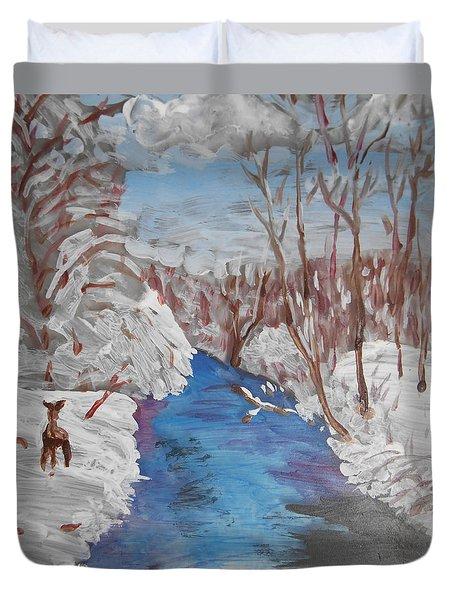 Snowy Stream Duvet Cover