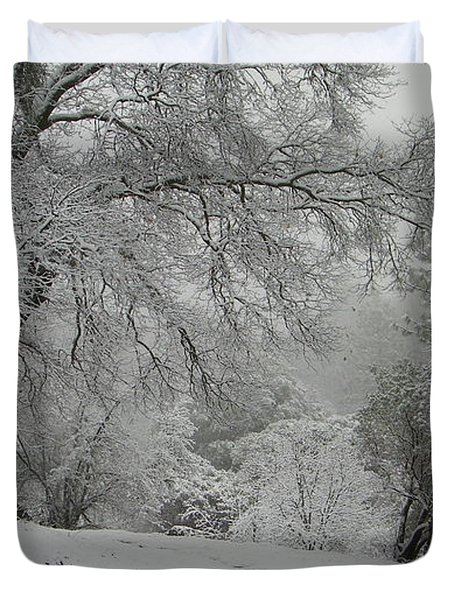 Snowy Trees Duvet Cover