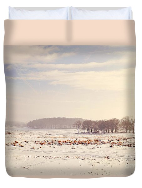 Snowy Valley Duvet Cover