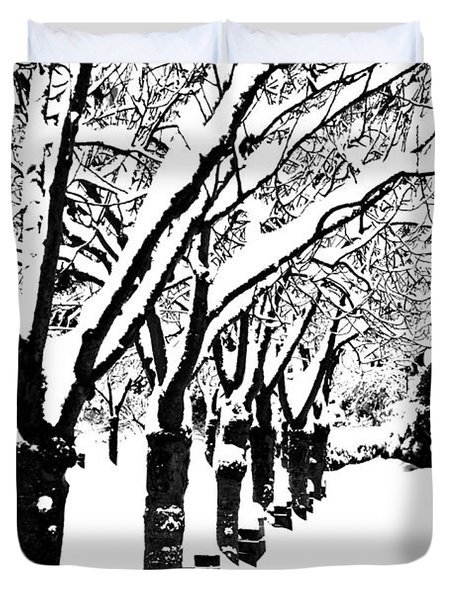 Snowy Walk Duvet Cover