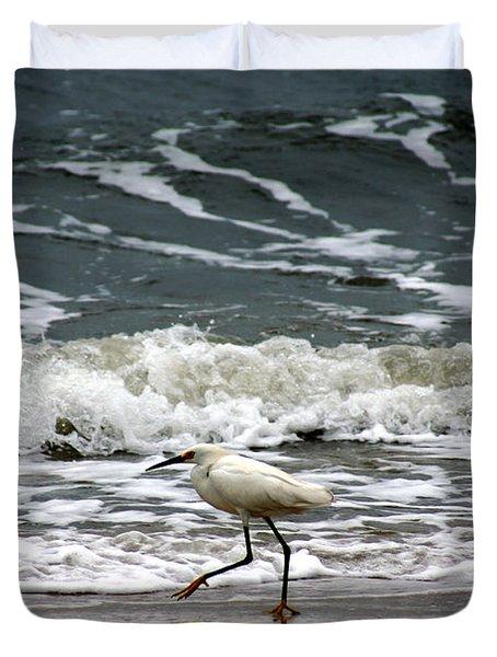 Snowy White Egret Duvet Cover