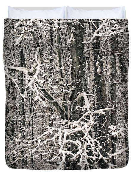 Snowy Woods Duvet Cover