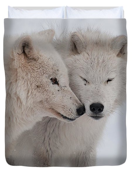 Duvet Cover featuring the photograph Snuggle Buddies by Bianca Nadeau