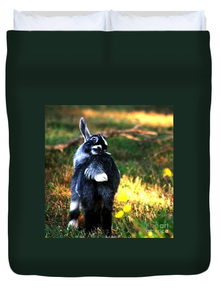 Duvet Cover featuring the photograph Snuggles by Lesa Fine