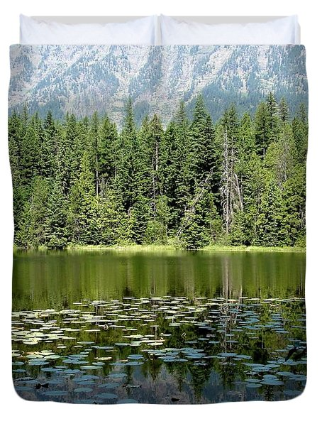 Snyder Lake Reflection Duvet Cover