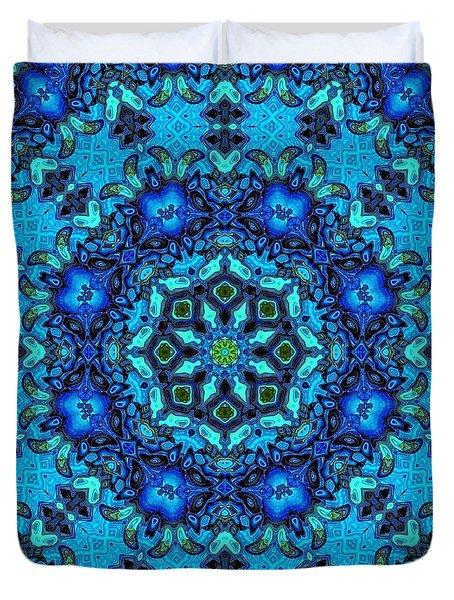 So Blue - 33 - Mandala Duvet Cover